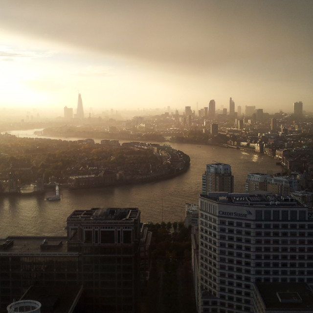 """London sunset 1"" stock image"