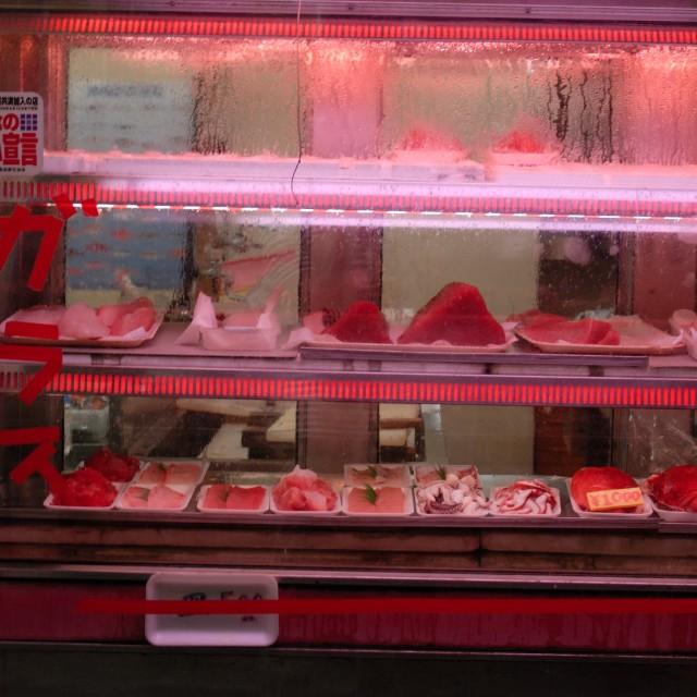 """Fish dealer"" stock image"