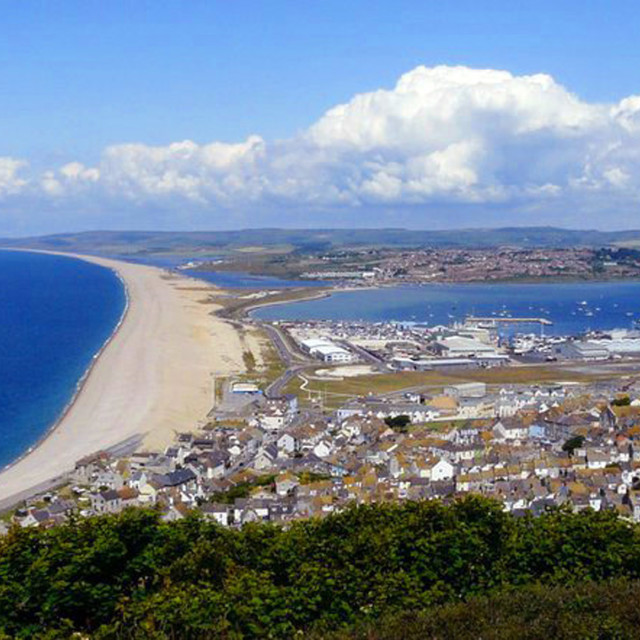 """""""Chesil Beach - 8th Wonder of the World"""" stock image"""