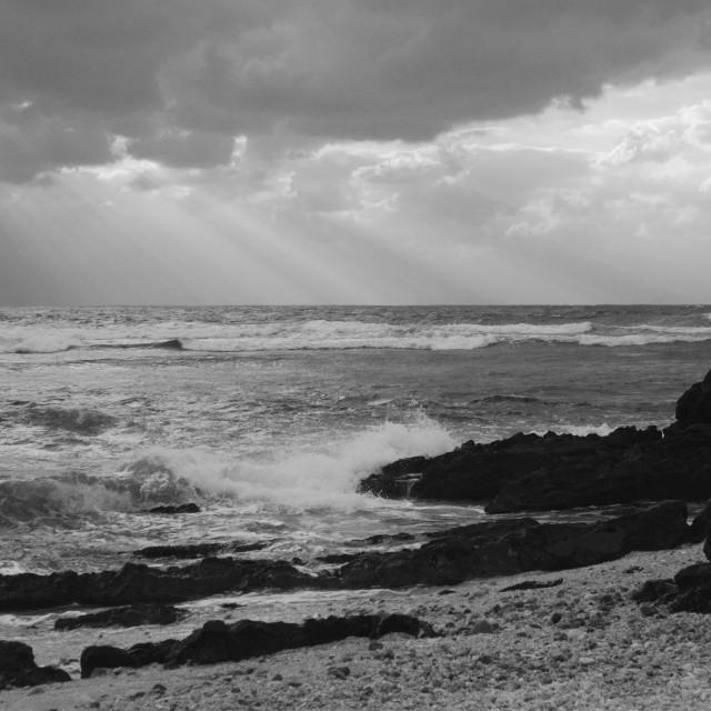"""The rough sea"" stock image"