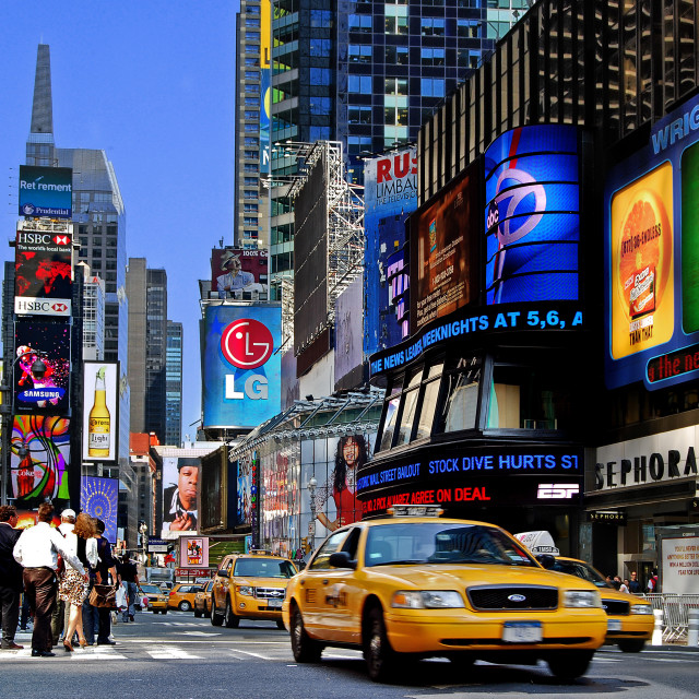 """Manhattan - The Times Square"" stock image"