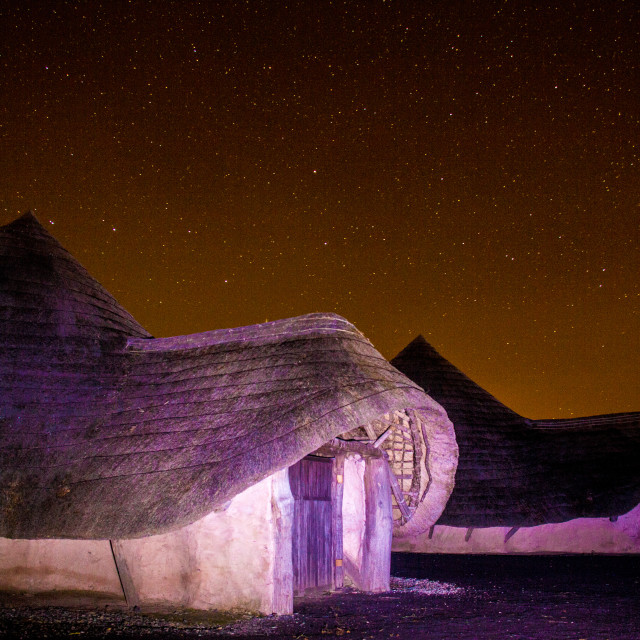 """Ancient Home under the Stars"" stock image"