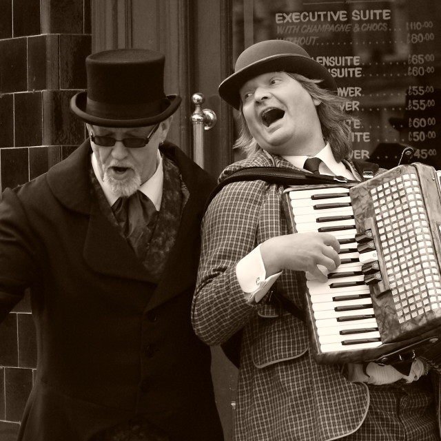 """Buskers"" stock image"