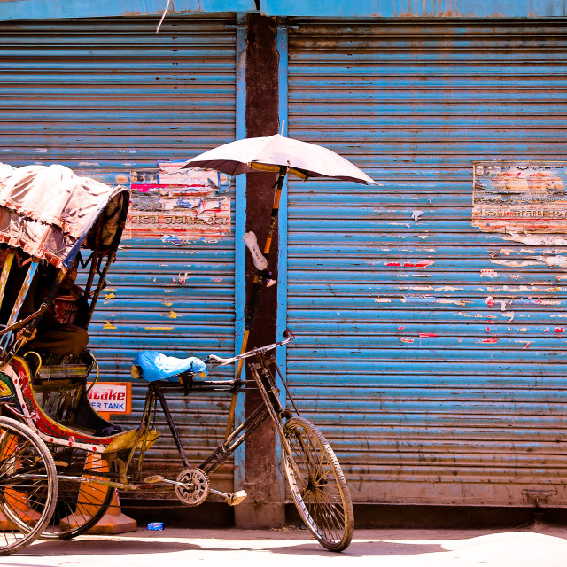 """rickshaw kathmandu"" stock image"
