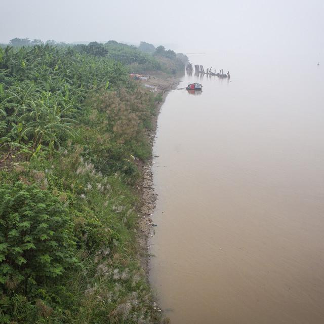 """Hong River - Hanoi, Vietnam"" stock image"