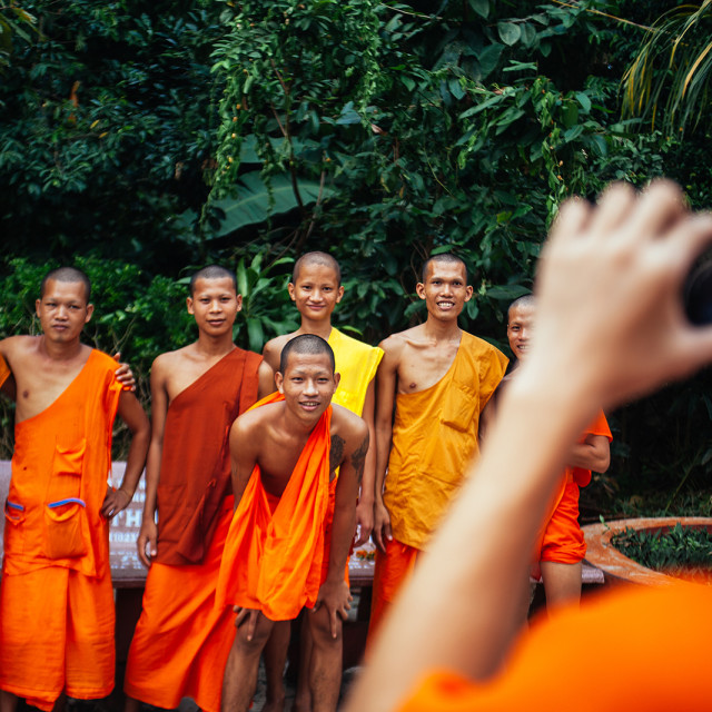 """Monks in Vietnam"" stock image"
