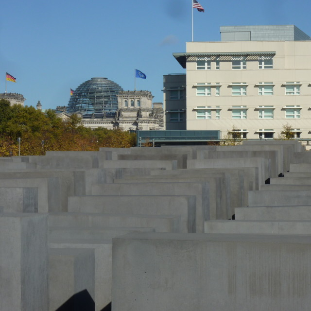 """Berlin Holocaust Monument"" stock image"