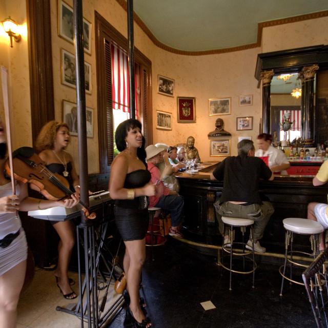 """""El Floridita"" Hemmingway's Bar ,Havana"" stock image"