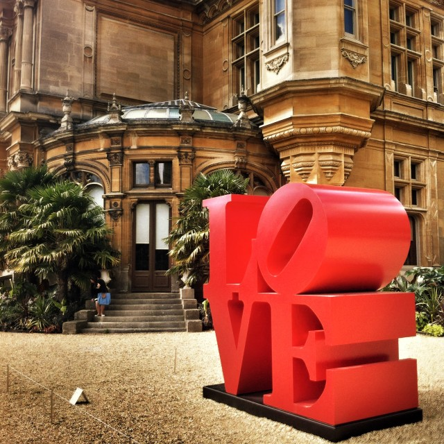 """LOVE at Waddesdon Manor"" stock image"