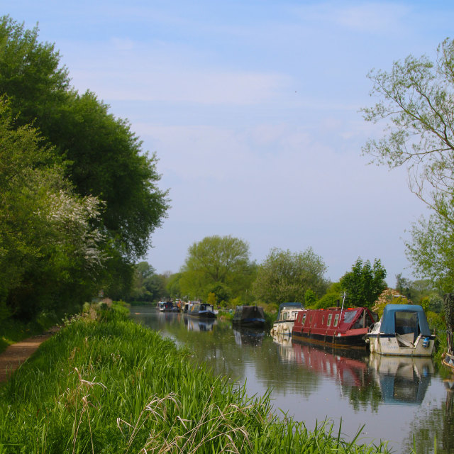"""""""Kennet and Avon canal"""" stock image"""