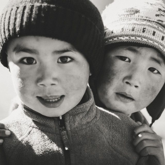 """""""Kyrgyz Brothers"""" stock image"""