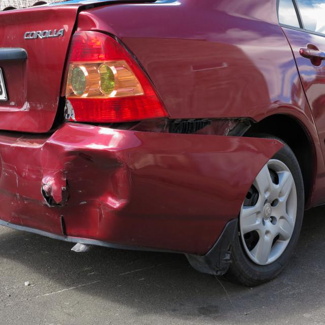 """collision damage"" stock image"