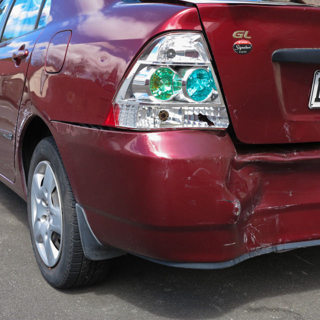 """collision damage"" stock image"