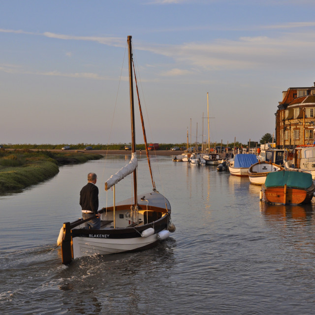"""Evening Light Boating"" stock image"
