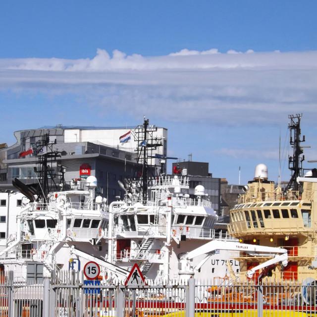 """Aberdeen harbour"" stock image"