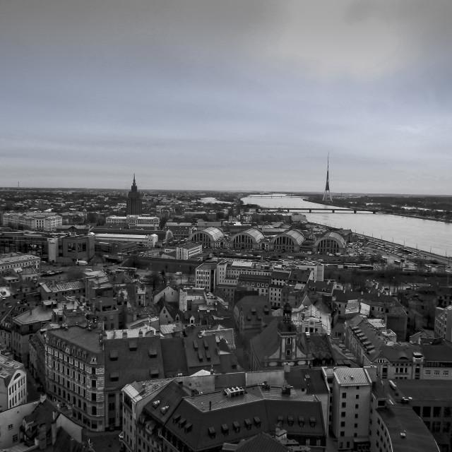 """Riga skyline"" stock image"