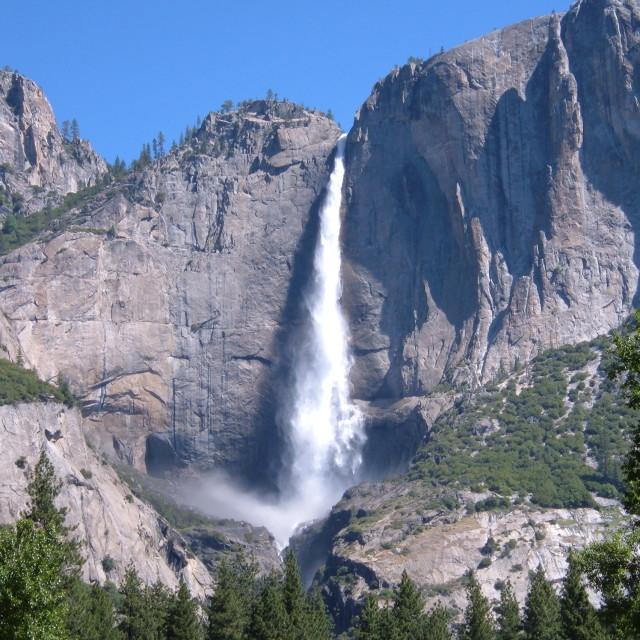 """yosemite waterfall"" stock image"