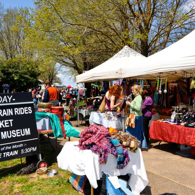 """Sunday Market in Daylesford, Australia"" stock image"