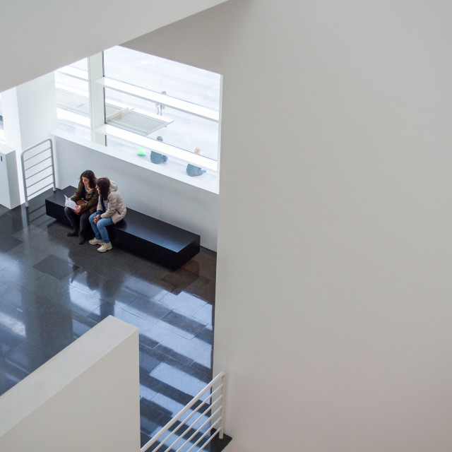 """Quiet Moment At MACBA Museum in Barcelona"" stock image"