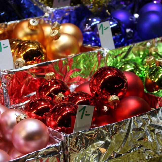 """""""Christmas bulbs"""" stock image"""