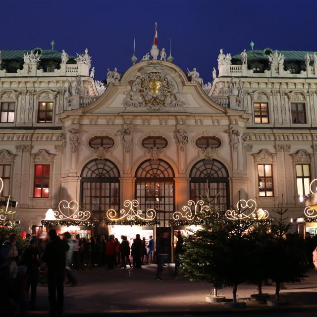 """Belvedere Christmas market in Vienna"" stock image"