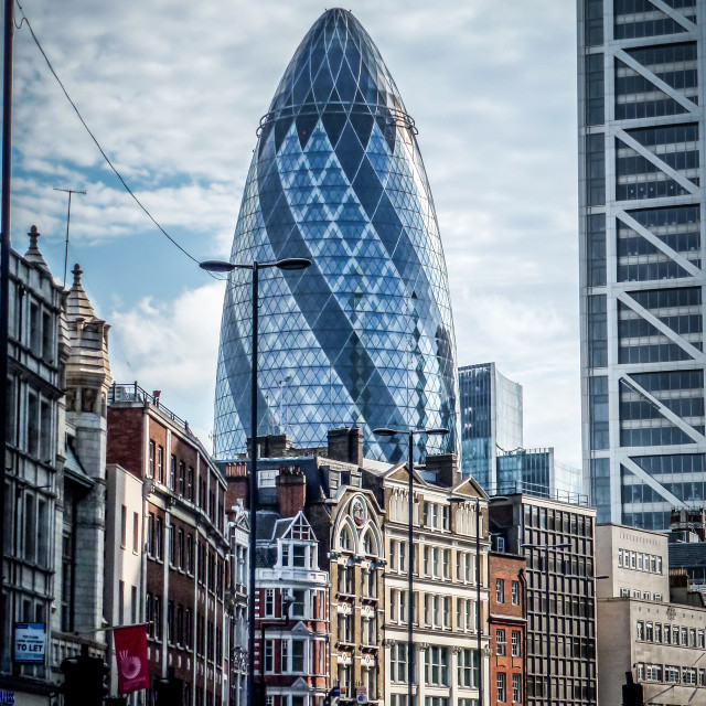 """Looming Gherkin London"" stock image"