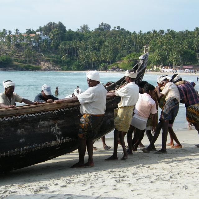 """fishermen, Kerala"" stock image"