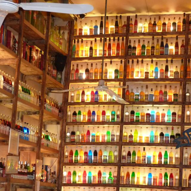 """Coloured Bottles"" stock image"