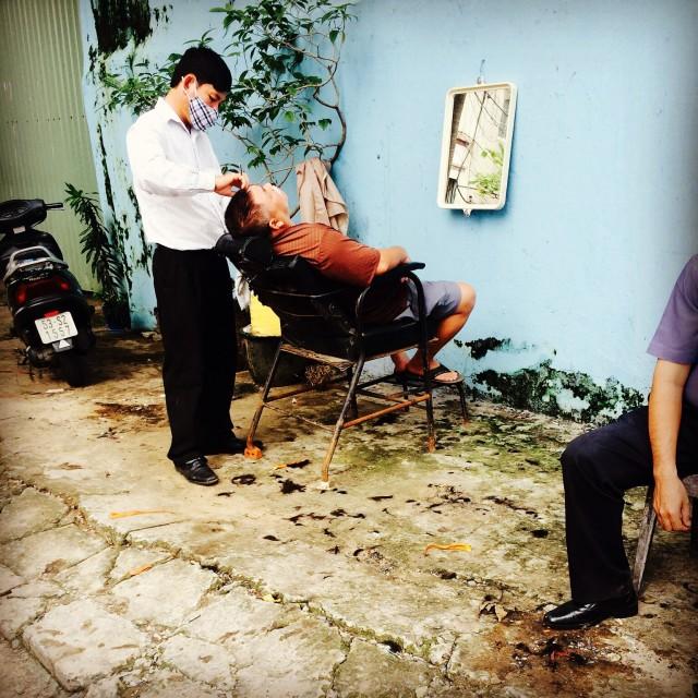 """""""Saigon Barber"""" stock image"""