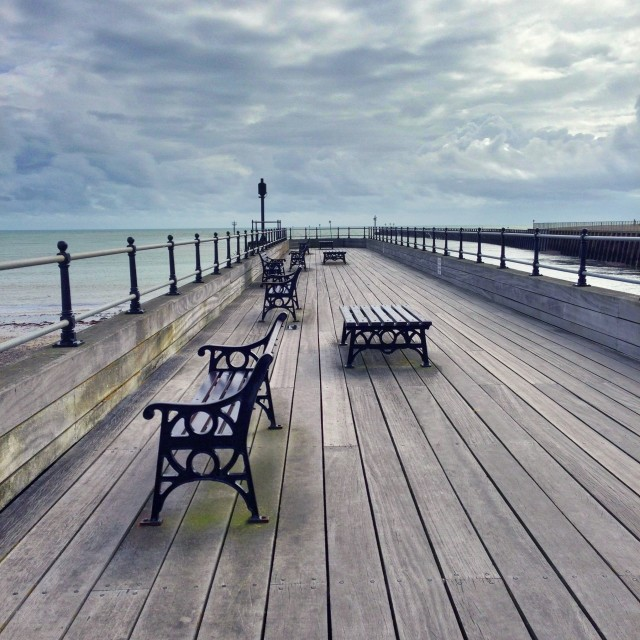 """""""Bleached pier"""" stock image"""