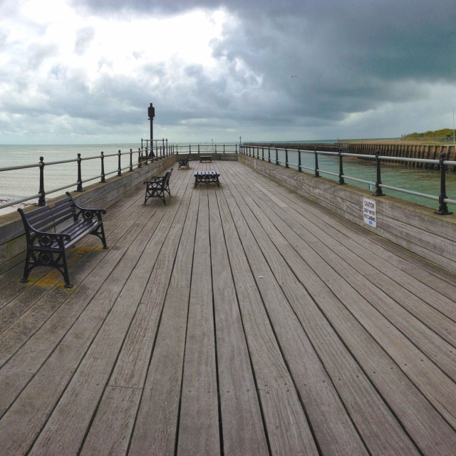 """""""Wide angle pier"""" stock image"""