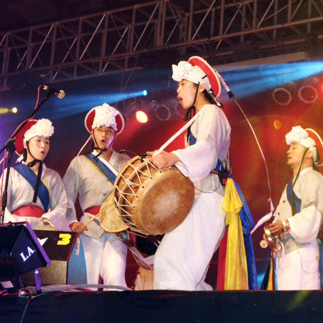 """Noreum Machi of Korea at Rainforest World Music Festival"" stock image"