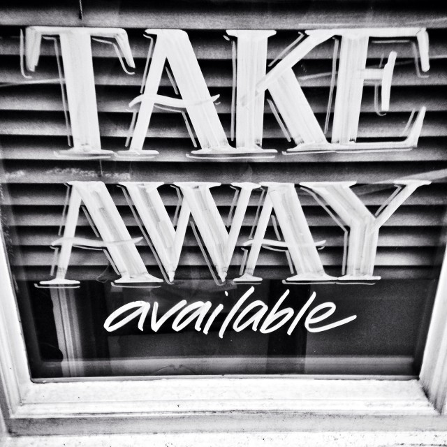 """Take away"" stock image"