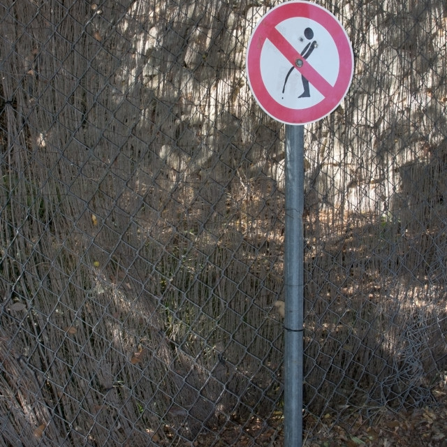 """No urinating sign"" stock image"