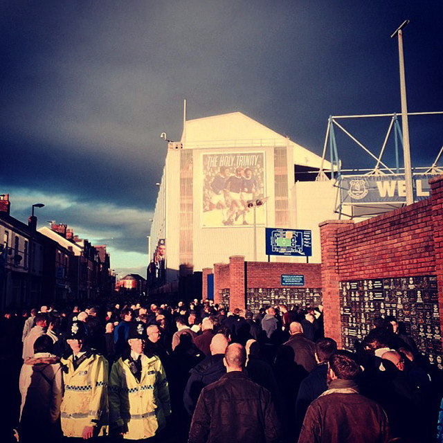 """Goodison Park"" stock image"