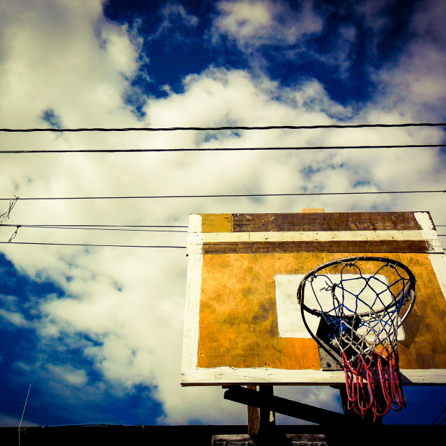 """street basketball court"" stock image"