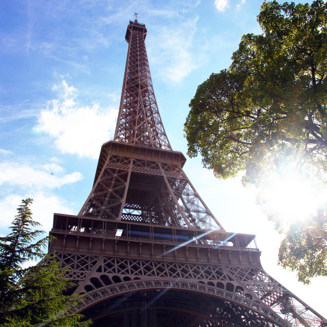 """The sunny Eiffel tower"" stock image"