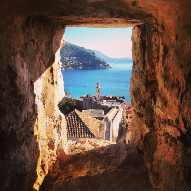 """Dubrovnik's walls"" stock image"