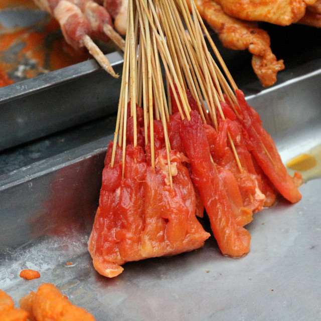 """""""Chinese meat kebabs"""" stock image"""