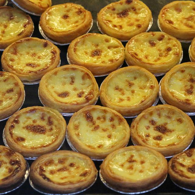 """Portuguese egg tarts"" stock image"