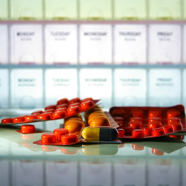 """medicine tablets and capsules"" stock image"