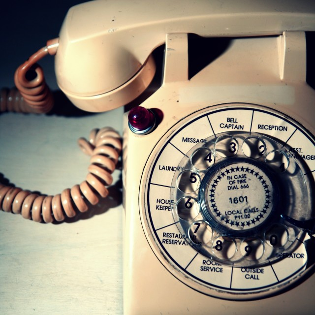 """vintage analog rotary telephone"" stock image"