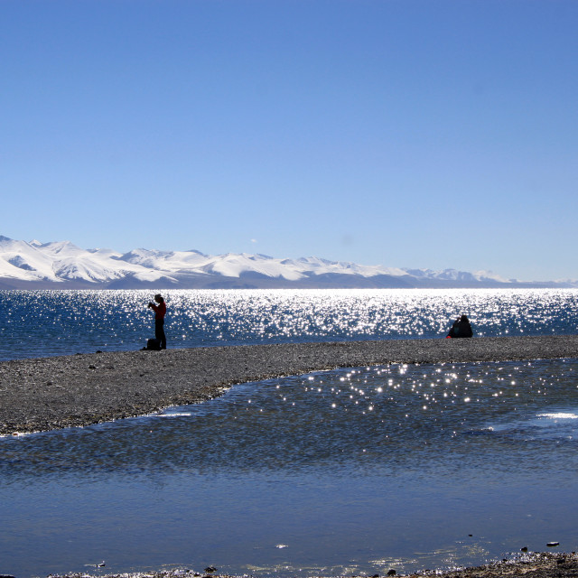 """Namtso Lake"" stock image"
