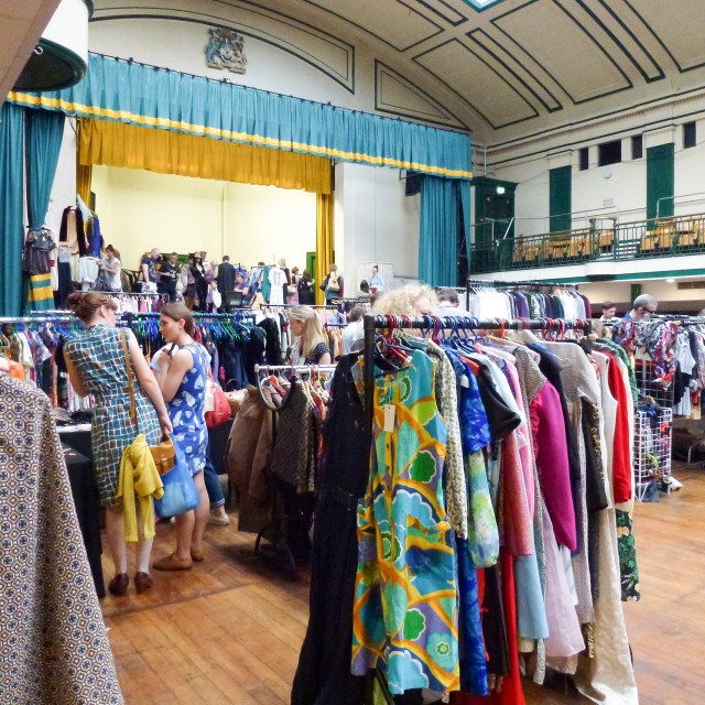 """Bethnal Green Vintage Fair in London"" stock image"