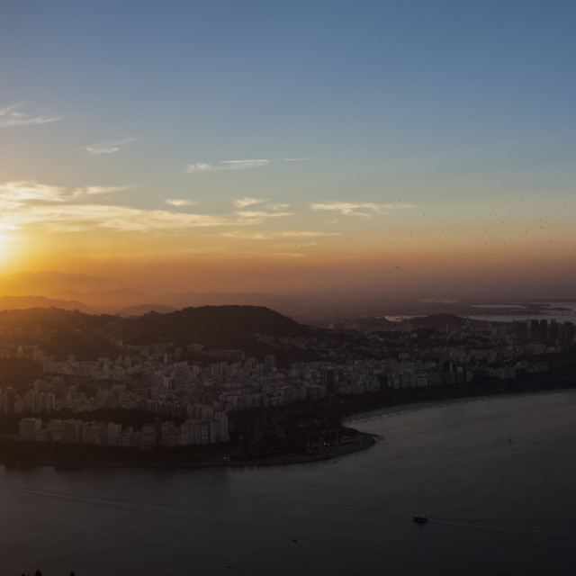 """Rio at Sunset"" stock image"