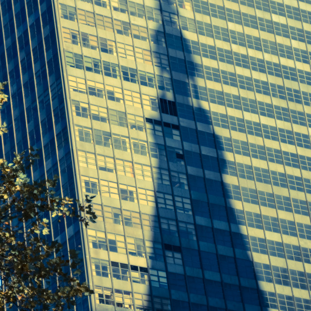 """New York shadow"" stock image"