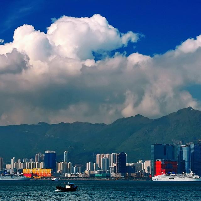 """""""Kowloon Bay, Hong Kong"""" stock image"""