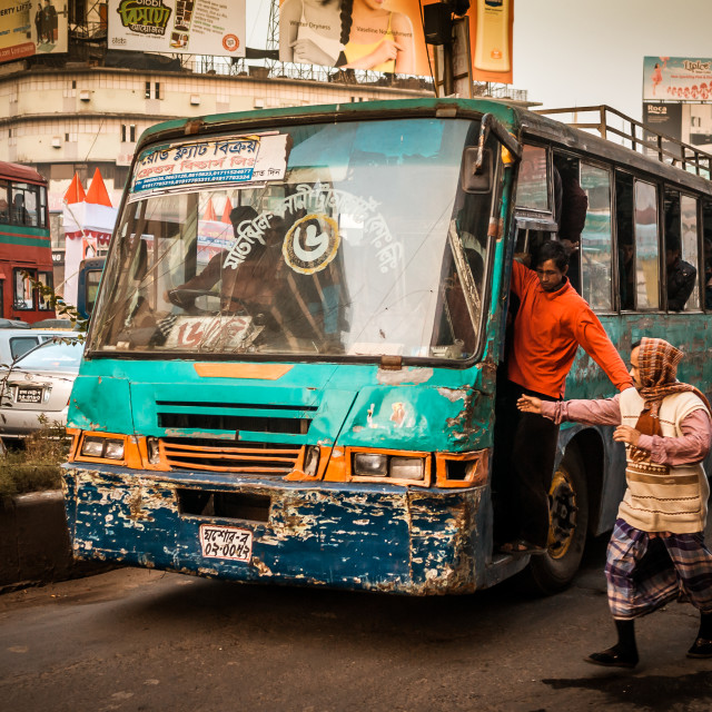 """Bangladeshi Bus"" stock image"