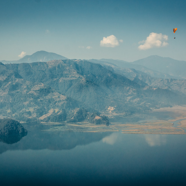 """Paraglider in Nepal"" stock image"