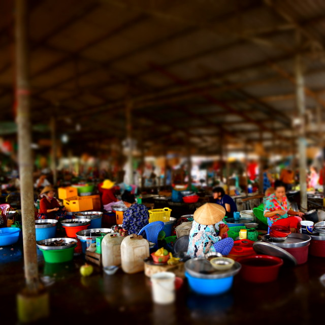 """Food market by Mekong Delta"" stock image"